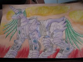 MLP Unicorn Zoid - Water Color by MidnightLiger0