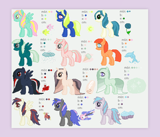 ponies ponies ponies (9/12 available!) by altaiica