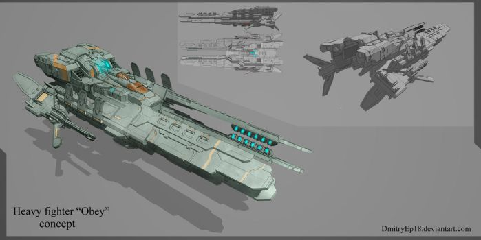 Heavy fighter Obey concept by DmitryEp18