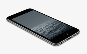 Grey Horizon Wallpaper for iPhone 6 and 6 Plus by kiwimanjaro