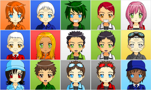 Anime Human Planes Characters by G-DaggerX105