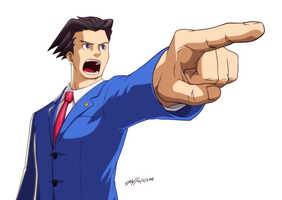 Phoenix Wright (Digital) by elmago6000