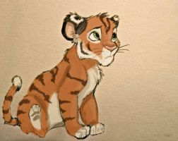 Tiger cub by Yellowbellyhill