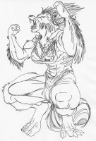 Wolfsbane in Werewolf Form by Ranzab by Stonegate