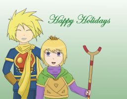HAPPY HOLIDAYS by Ask-Isaac