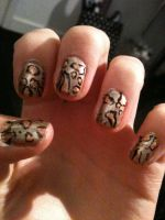 Leopard print nails by My-Life-In-Pictures