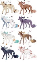 Canines on sale (points and paypal) by Klissie