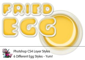 Fried Egg Photoshop Styles by suztv