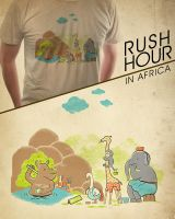 rush hour in africa by skitchman