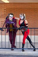 Joker and Harley Quinn - Halloween Shoot 6 by LukeStrife5
