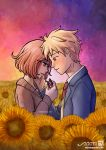 Between sunflowers and love - Kyoukai No Kanata by MaruExposito