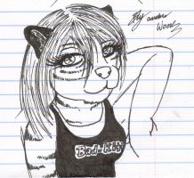 pen tiger girl Sketch by Inume1551