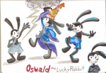Oswald the Luckey Rabbit doodle's by BoxcarChildren