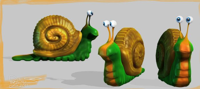 Funny Snail Poses by TheZakMan