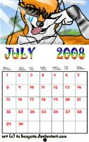 Gift: July 2008 calendar for.. by HCoyote