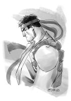 Tribute  Ryu by zecarlos