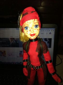 Lady Deadpool doll 2 by Makeup-love95