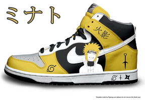 Minato-4th Hokage Hi-Top Dunks by Azrael-Haze