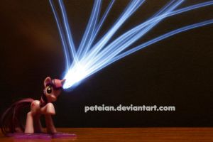 Twilight Sparkle Light Painting by peteian
