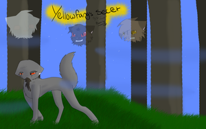 Yellowfang's Secret project book cover :edit: by Darkstar-9-25