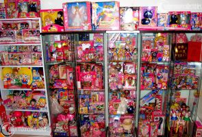 Sailor Moon Toys Collection Shelf - October 2012 by onsenmochi