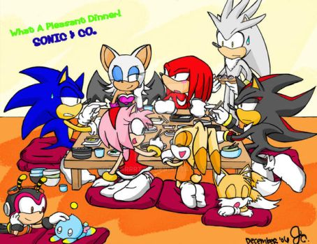 Sonic And Co's Chaotic Dinner by ihearrrtme