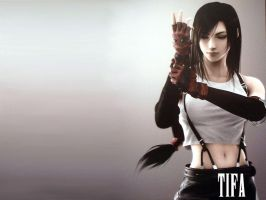 Tifa wallpaper by grobiegrl