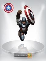 Captain America Standing Art by WINDEARTFLY