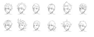 Male Hair References by whymeiy