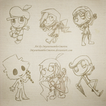 Chibis by ImYourNumber1Moron