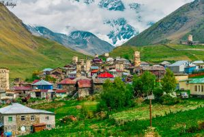 Village In The Mountains by Rikitza