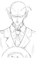Piccolo in a suit sketch by Achrafuuu