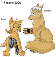 Ed-dog and Scar-wolf by Heliotrope-Housecat