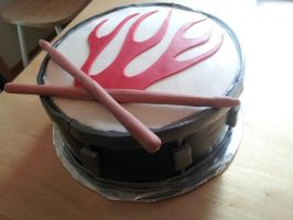 Drum Cake by Cupcake-Killer