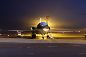 KLM at night by DeamFly
