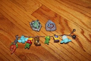 League Charm Bracelet and pendants by chowtastic