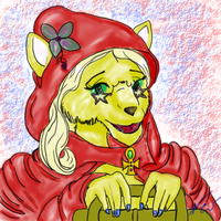 Little Red Riding Wolf by AluminumSunset