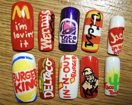 Fast Food Nails by ZeeaDarling