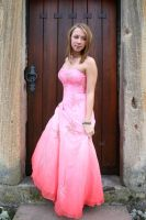 Pink dress stock 05 by Malleni-Stock
