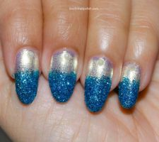 Blue Glitter Nail Tips by Gorgeousnails