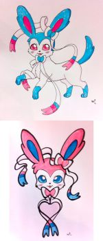 Sylveons by LovelyKouga