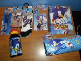 Mixed Sonic Merch by DarkGamer2011