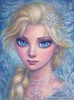 Elsa watercolor by marurenai