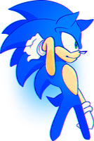 its a sanic by The-Blue-Deviant-Fox