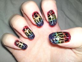 28. Black Crackle Over Rainbows by megs2606