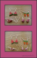 Fimo Earrings 2. by Mineko-chan