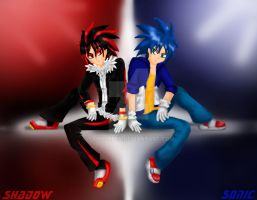 Shadow and Sonic by SanySuper