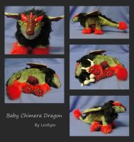 Poseable Baby Chimera Dragon by LeoEyes
