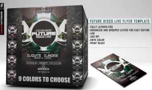 ELECTRO MUSIC FUTURE DISCO LIVE FLYER TEMPLATE by MCerickson