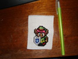 Little Link Cross Stitch by Schrimpyoctopus